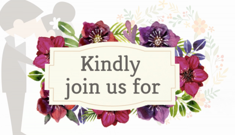 Flowery Digital Wedding Invitation