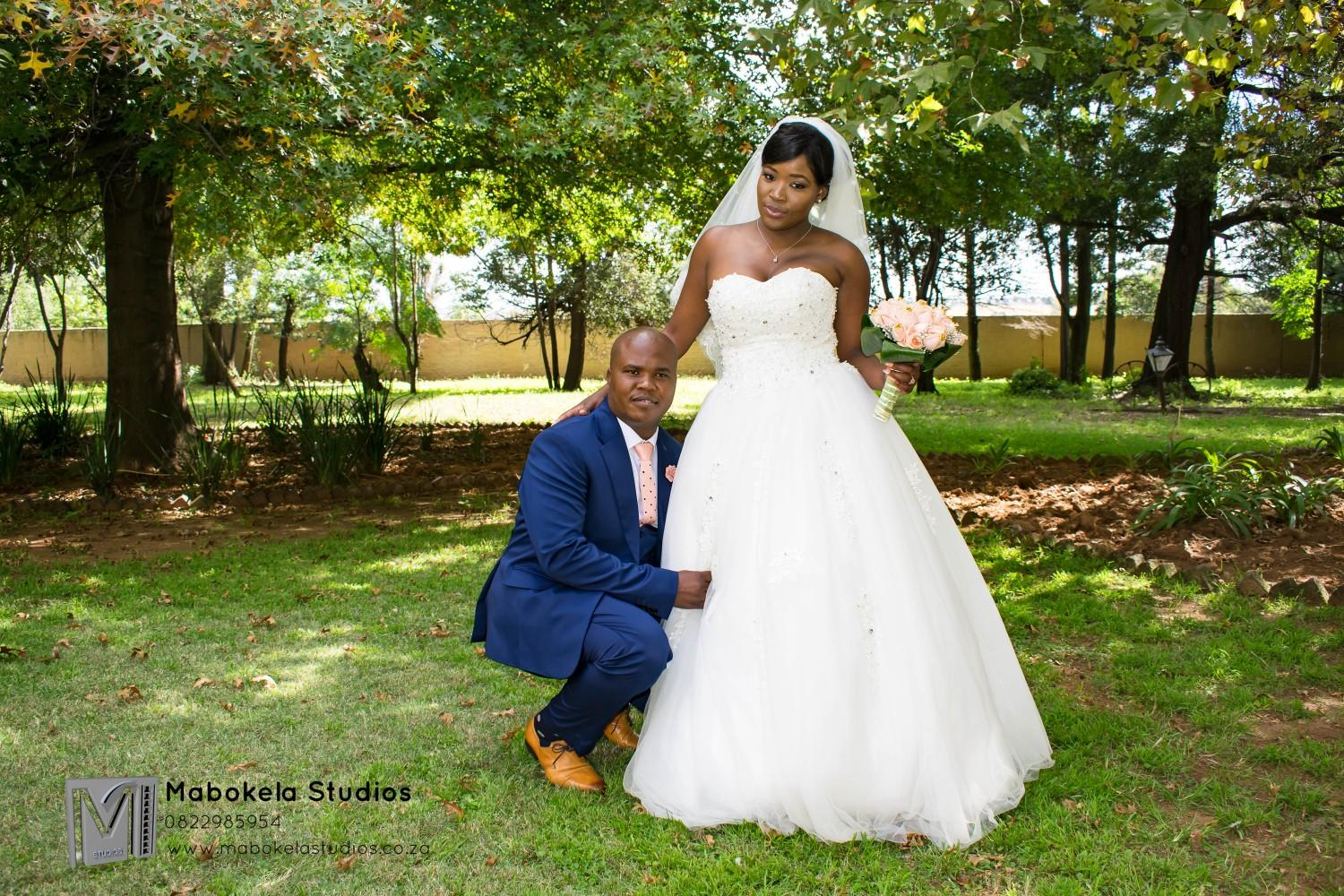 Mahlatse Nkosi and Edwin Lesenyo's wedding