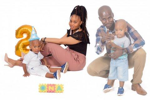 Inolofatseng Letlape and her family studios photography