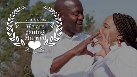Vusi + Noma's whatsapp wedding invitation video
