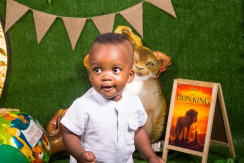 King Nkosana's 1st cake smash birthday with Lion King theme