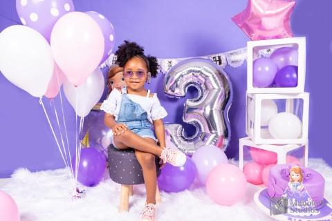Ria's 3rd birthday photoshoot with Sofia theme